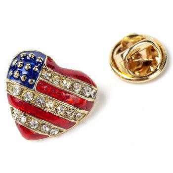 Puffed Heart Tac Pin