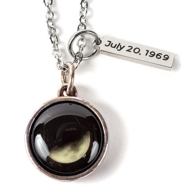 Americana Moonwalk Moon Necklace