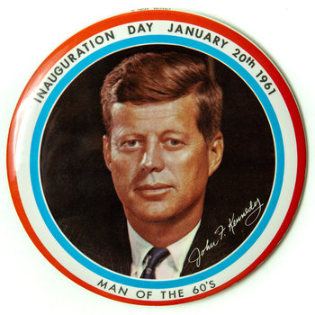 Original Kennedy Inauguration Day 1961 Button