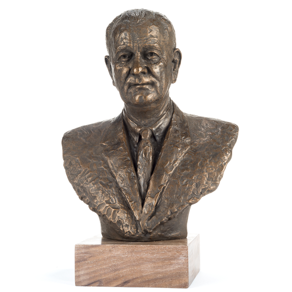 """All the Way with LBJ LBJ Bust 12.5"""" w/Bronze Finish from 1966"""