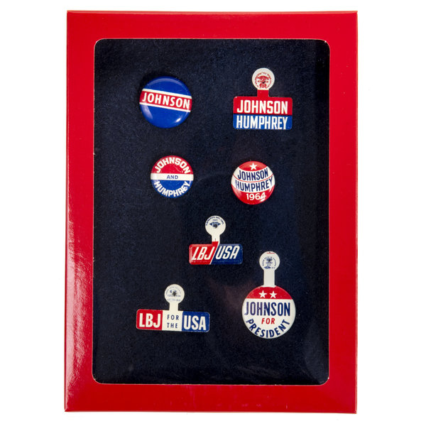 All the Way with LBJ Original LBJ Campaign Buttons Collection 2