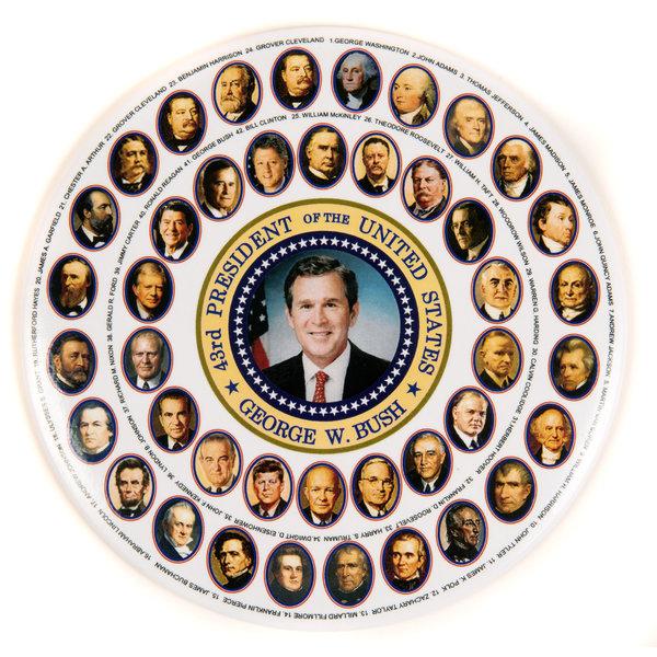 George W. Bush & The Presidents Button