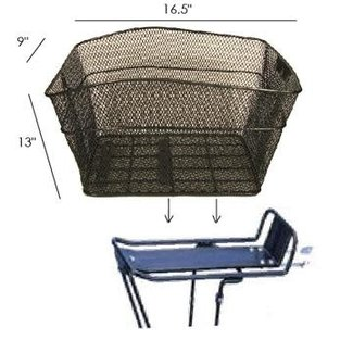 Image Rear Mesh Basket Black