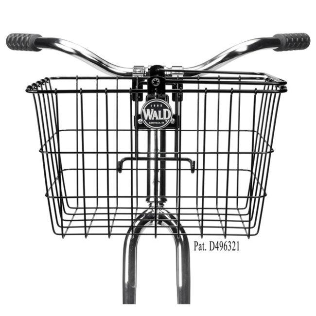 Wald Front Basket 3133GB Quick Release Basket - Black