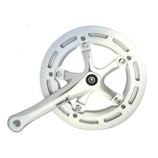 Prowheel Crank Single Speed w/ChainGuard Silver 170mm 46t 130BCD