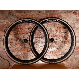Urbane Wheels Boyd Pinnacle Carbon CX Tubular - DT 240 CL Disc 24/28 Sapim CX-Ray DEMO (Challenge Grifo Tires installed) - SALE $2000
