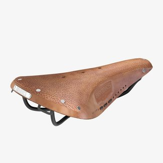 Brooks Brooks B17 Aged Saddle Dark Tan Black Steel