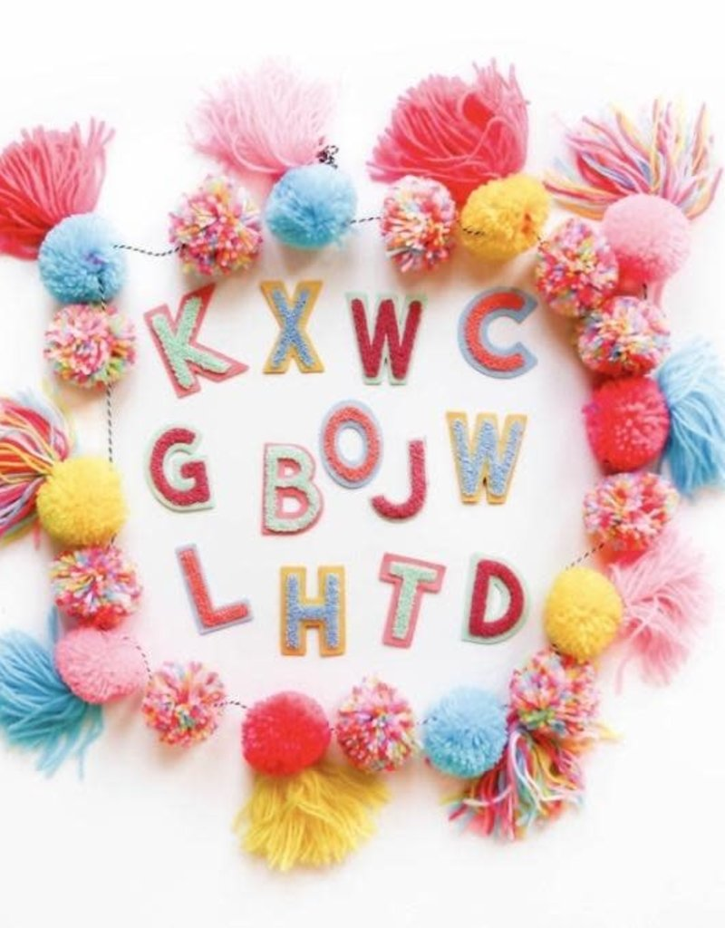 3HAPPYHOOLIGANS Chenille Alphabet Patches