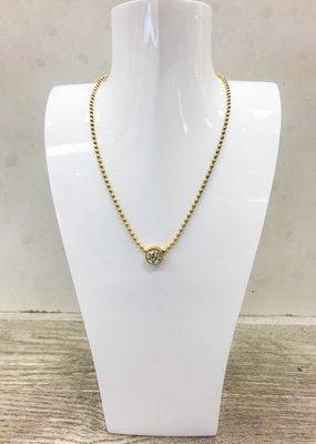 LOREN HOPE Circle Crystal Necklace