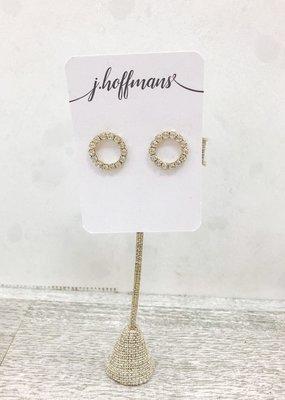 j.hoffman's Crystal Open Circle Studs