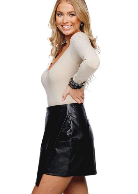 BUDDY LOVE Madonna Black Leather Skirt