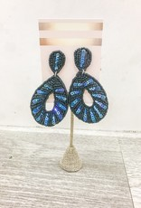 Hookedwebdesign Peacock Sequin Earrings