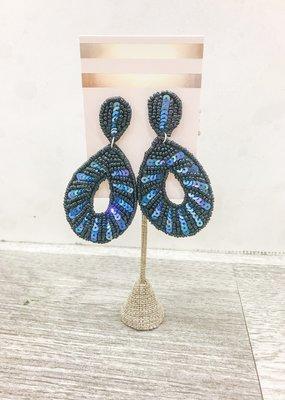 j.hoffman's Peacock Sequin Earrings