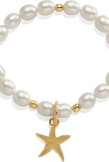 Sea Shore Pearl Starfish Stretch Bracelet