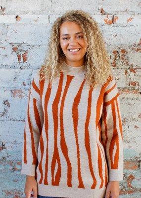 KERISMA Zina Zebra Tunic Sweater