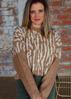 j.hoffman's Zuzu Zebra Knit Sweater