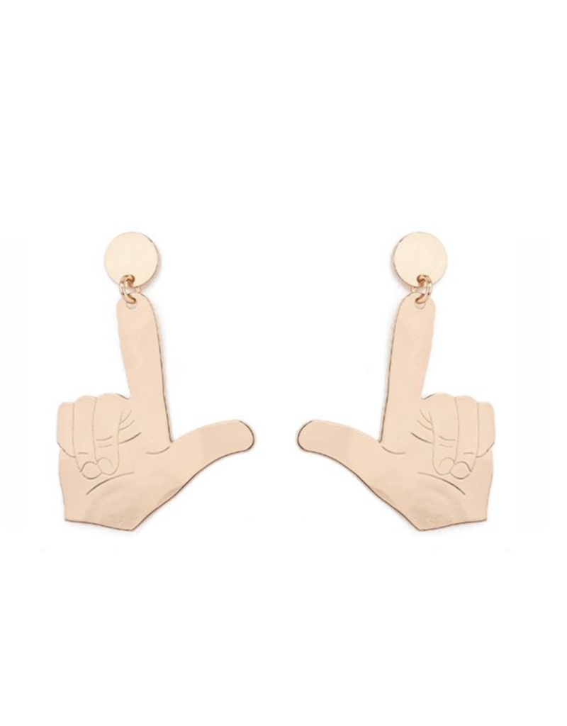 LOLA & LINA Guns Up Small Dangle Earrings