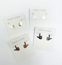 LOLA & LINA Guns Up Stud Earrings