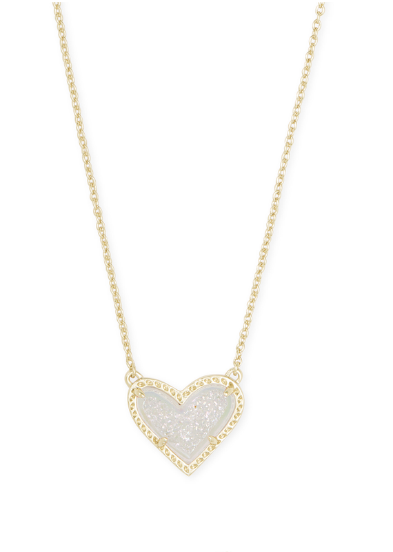 KENDRA SCOTT Ari Heart Gold Necklace