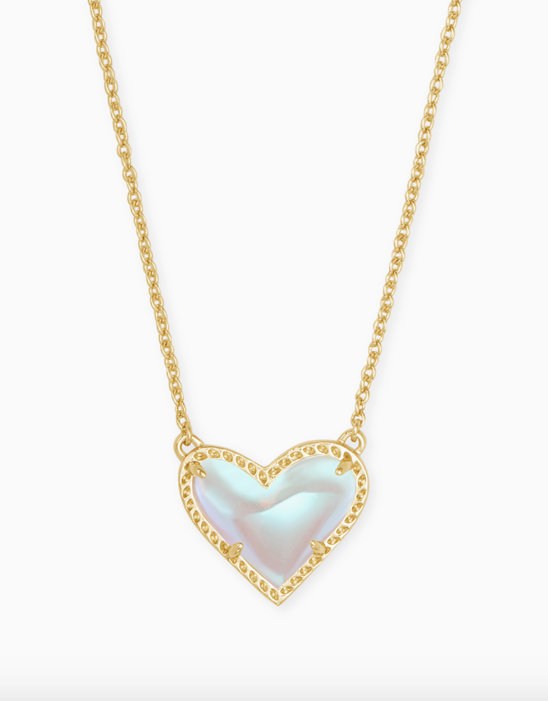 KENDRA SCOTT Ari Heart Gold Necklace
