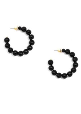 ZENZII Mini Beaded Hoop Earrings
