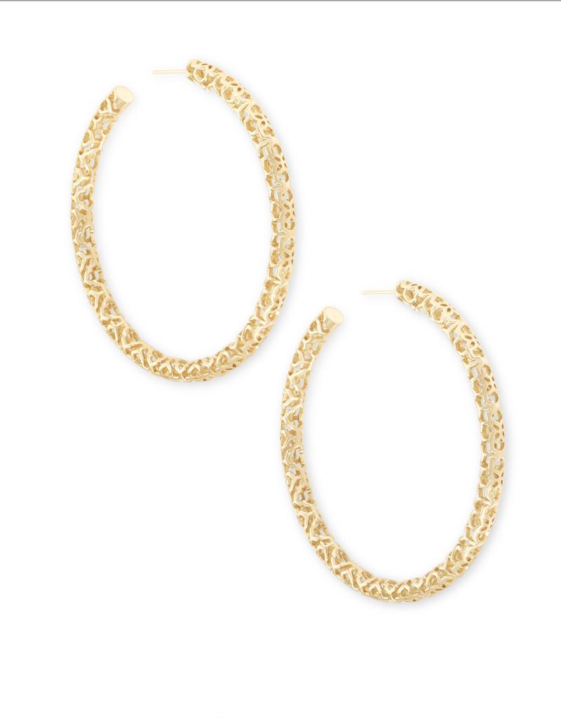KENDRA SCOTT Maggie Hoop Earrings