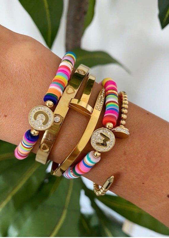 BRACHA Multi Beaded Initial Bracelets