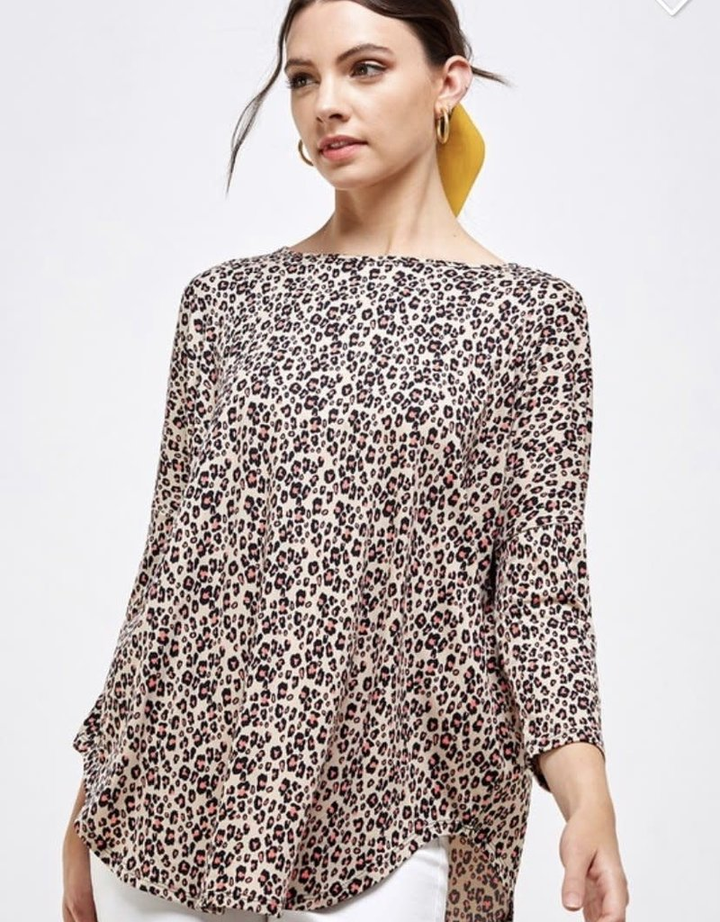 KORI Neon Leopard Long Sleeve Tee