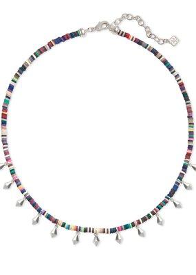 KENDRA SCOTT Reece Bright Silver Choker Necklace