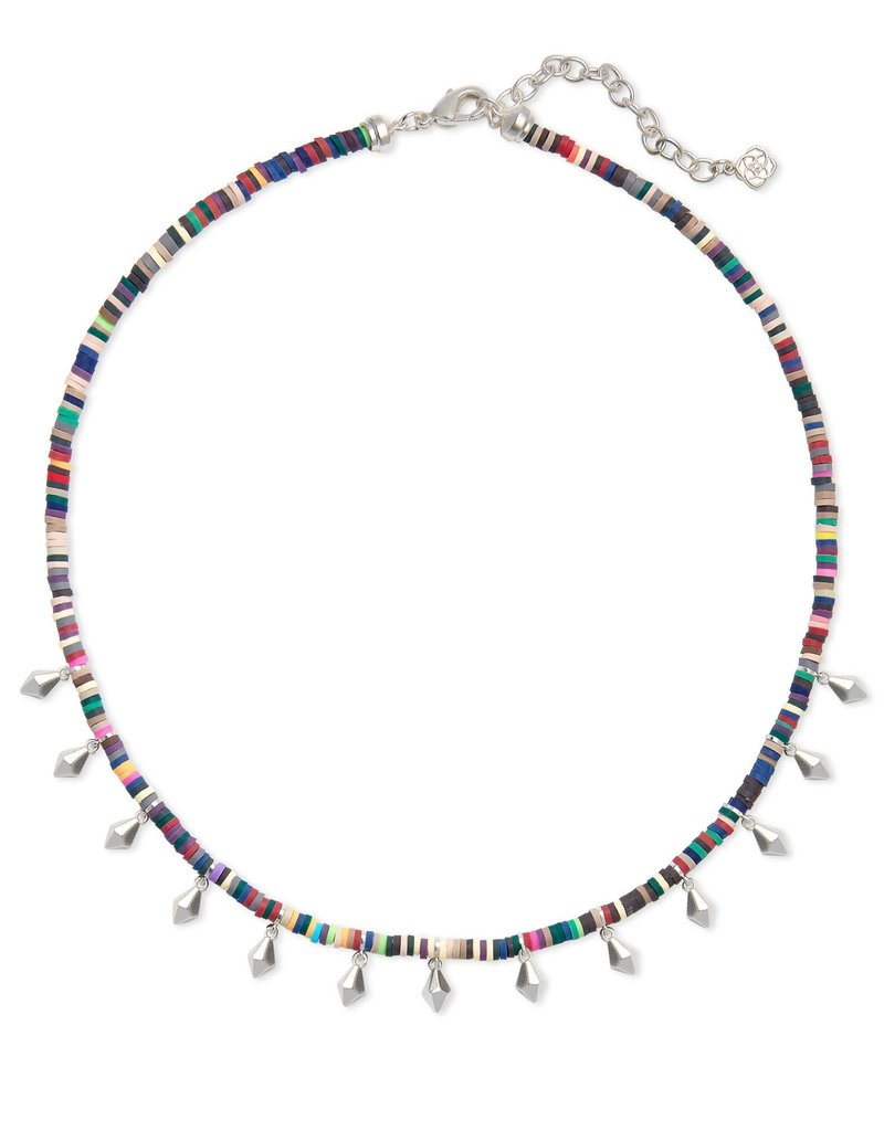 KENDRA SCOTT Reece Bright Silver Choker Necklace