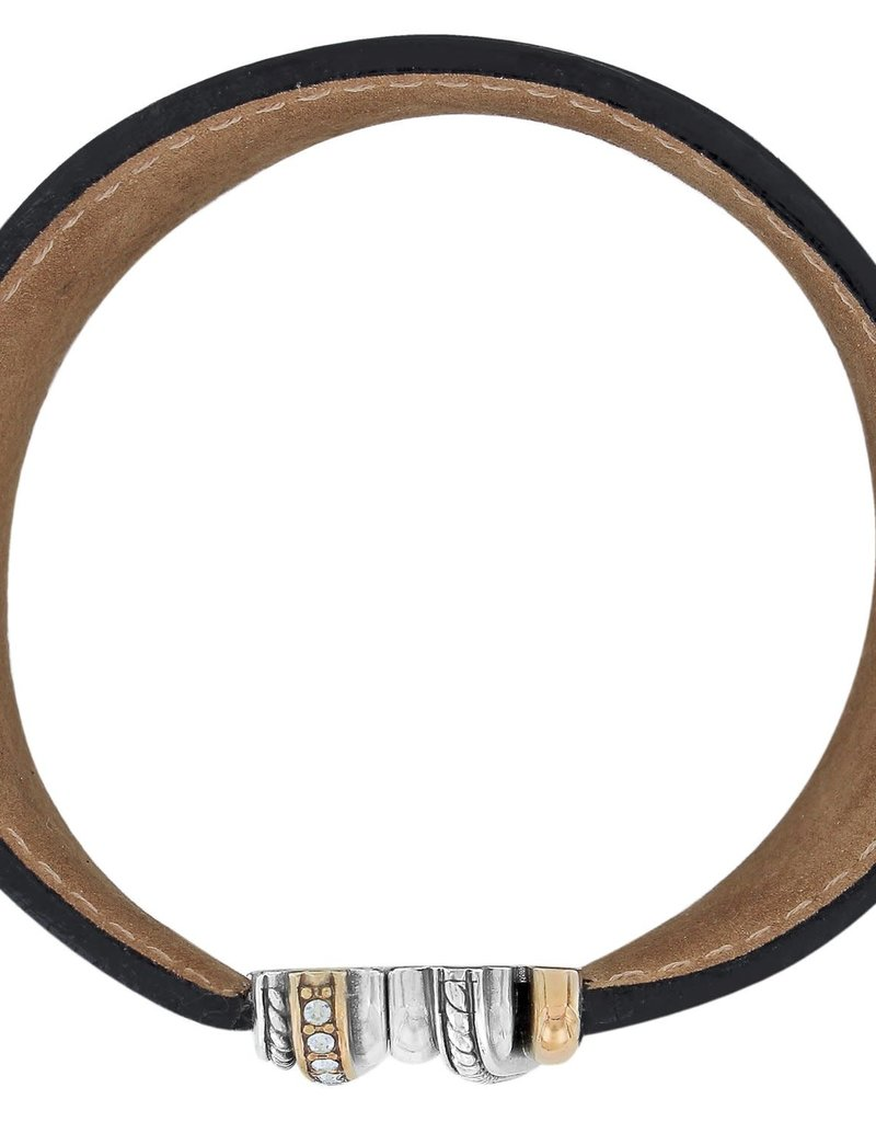 Neptune's Rings Wide Leather Bracelet