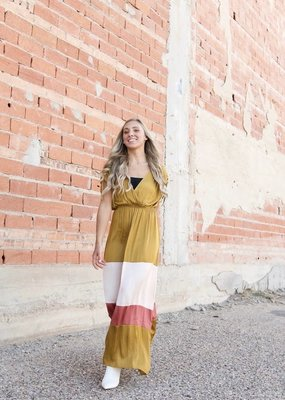 STRUT & BOLT Harlow Colorblock Maxi Dress