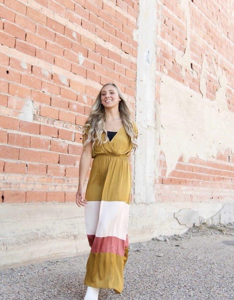 STRUT & BOLT Harlow Colorblock Maxi Dress