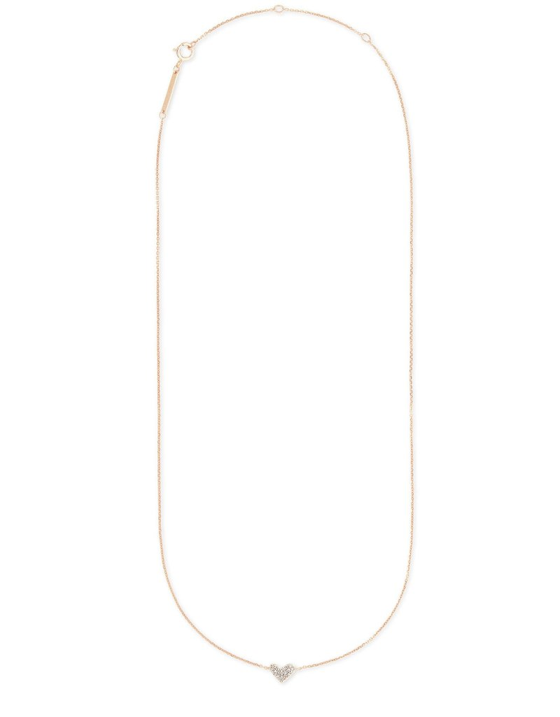 KENDRA SCOTT Heart Pendant Necklace In 14k White Diamonds