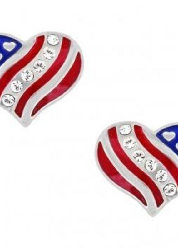 Hearts and Stripes Mini Post Earrings