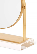 KENDRA SCOTT Round Brass & Acrylic Mirror