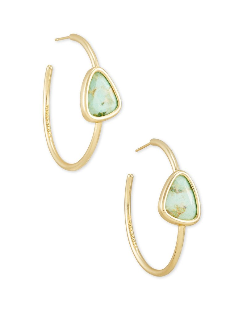 KENDRA SCOTT Margot Gold Hoop Earrings