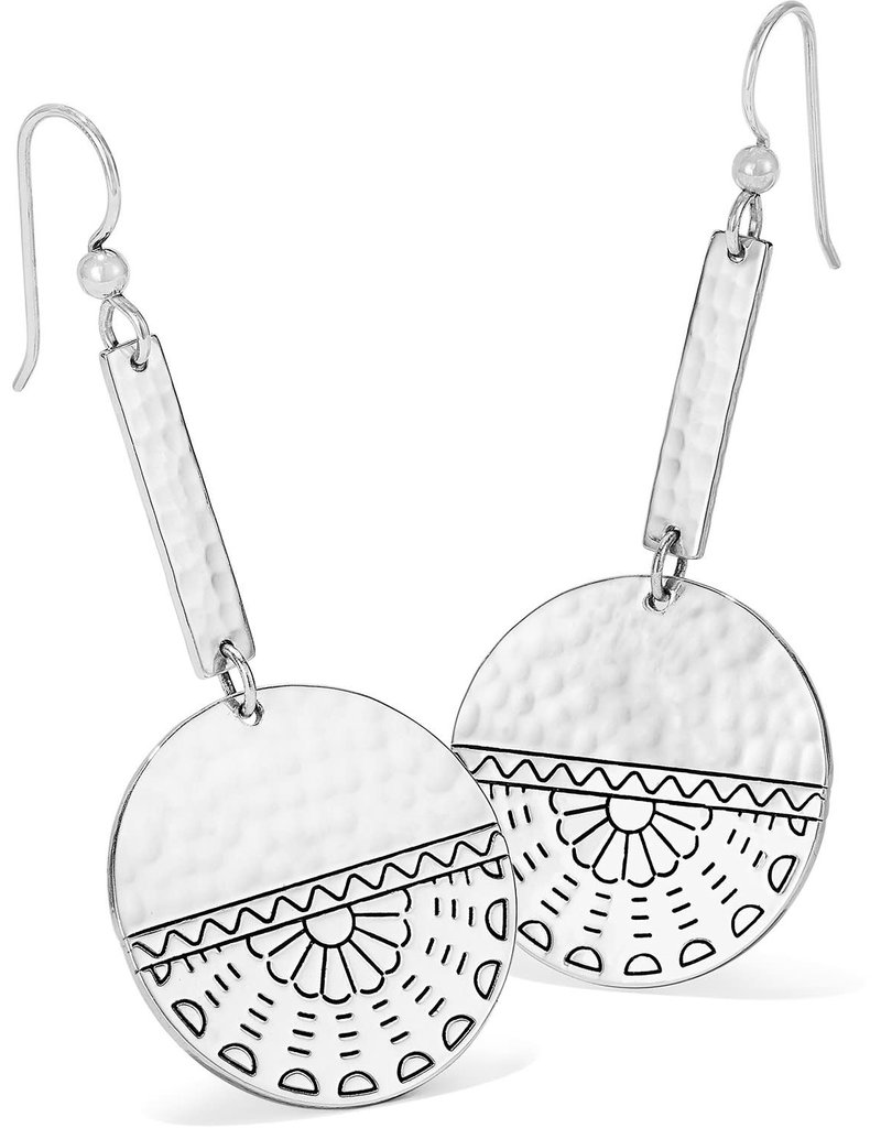 Marrakesh Mystique Disc French Wire Earrings