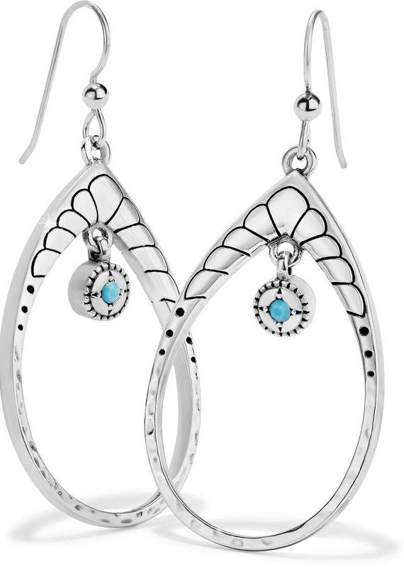 Marrakesh Mystique Open Teardrop French Wire Earrings
