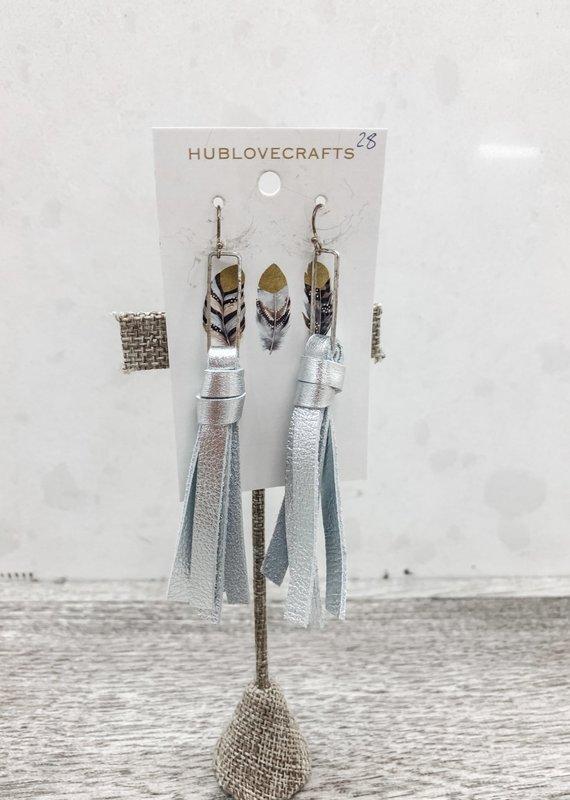 Metallic Tassel Fringe Earrings