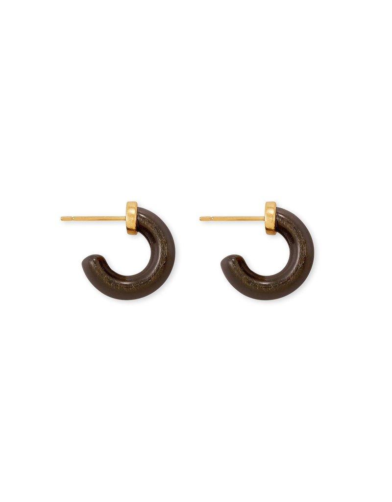 KENDRA SCOTT Mikki Vintage Gold Huggie Earrings