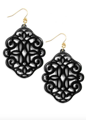 ZENZII Regal Resin Drop Earrings