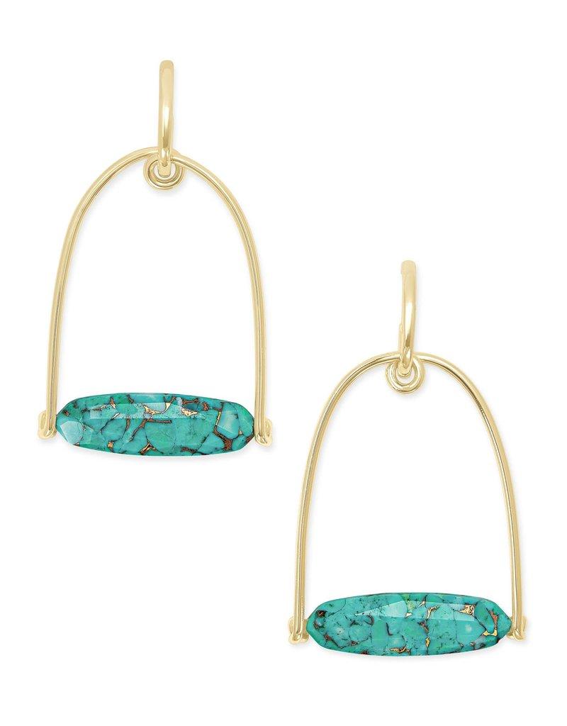KENDRA SCOTT Sassy Gold Statement Earrings