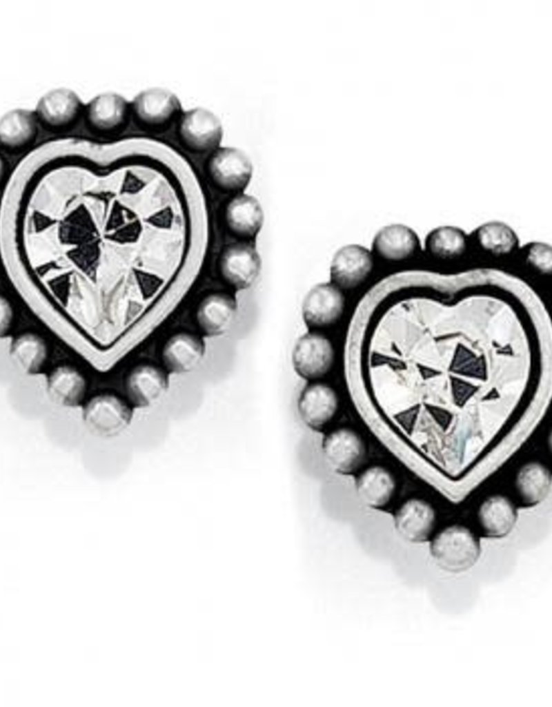 Shimmer Heart Mini Post Earrings
