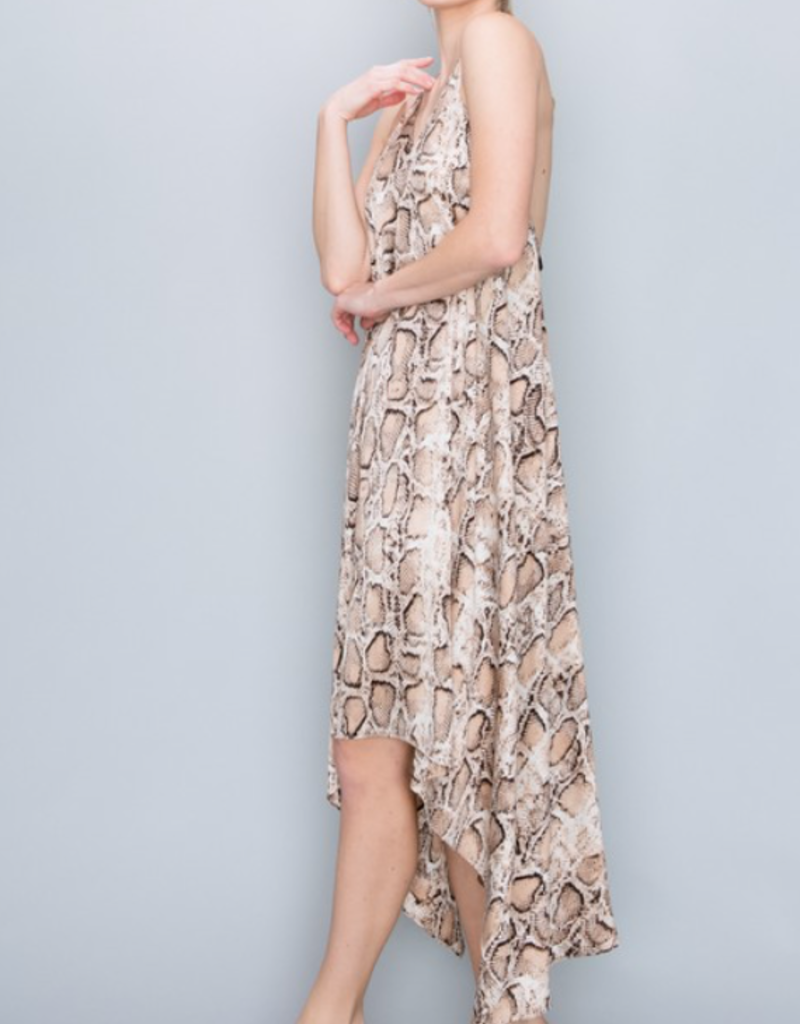 BENEDETTO Slithering Open Back Midi Dress