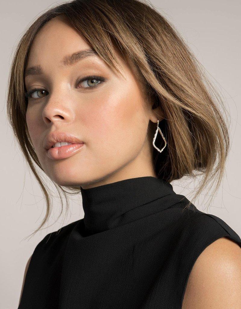 KENDRA SCOTT Sophia Drop Earrings In Pave Diamond And 14k White Gold
