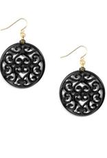 ZENZII Swirled Circle Drop Earrings