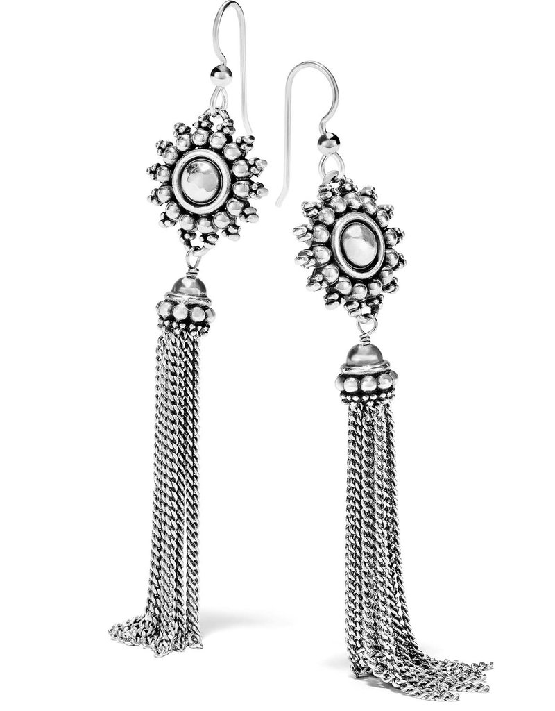 Telluride Sunburst Tassel French Wire Earrings