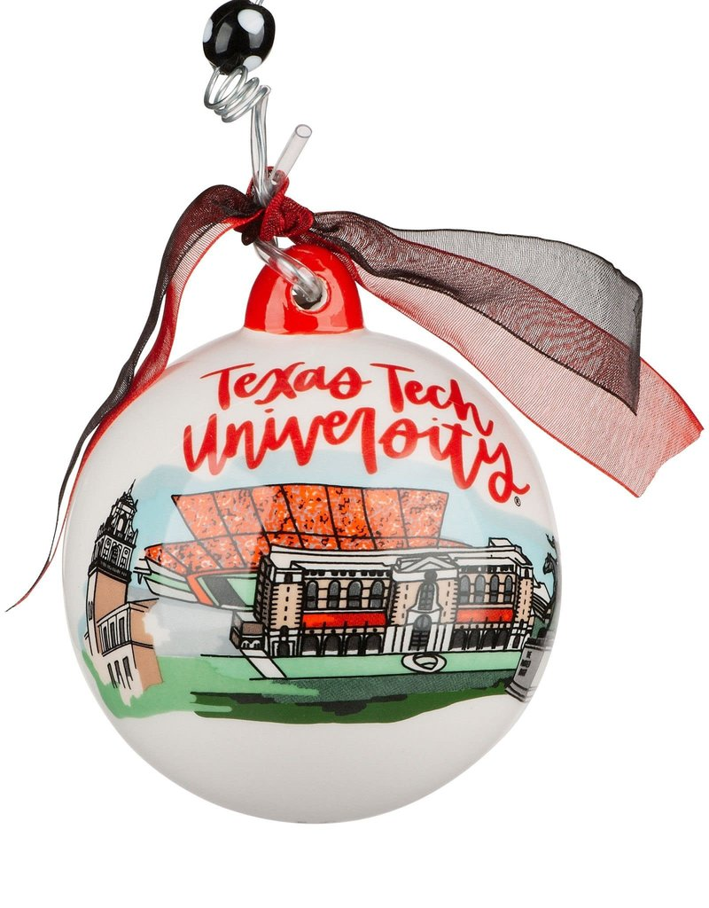 GLORY HAFR Texas Tech Landmark Ball Ornament