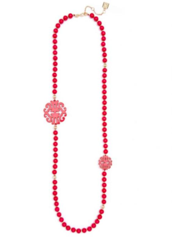 ZENZII Uptown Swirl Beaded Long Necklace